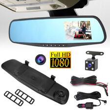 "HD 1080P 4.3"" Car DVR Rearview Mirror Dual Lens Camera Dash Cam Video Recorder."
