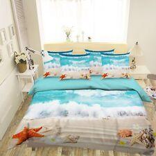 3D Beach Wave 63 Bed Pillowcases Quilt Duvet Cover Set Single Queen King AU Cobb