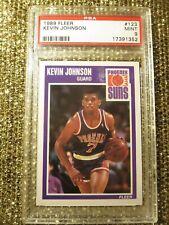 Kevin Johnson 1989 NBA Fleer Phoenix Suns Rookie PSA 9