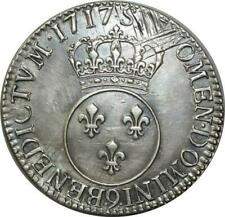 T5600 Rare R4 Ecu Louis XV Vertugadin flan neuf 1717 9 Rennes Argent -> F Offre