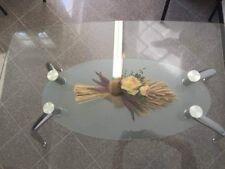 Tavolo in Vetro Trasparente con Ripiano