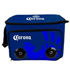 Corona Soft Cooler Bag With Built In Bluetooth Speakers Blue
