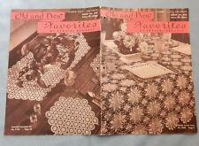 Vintage 1947 Crochet Patterns Doilies Queen Anne Lace Daisy pineapple Rose Star