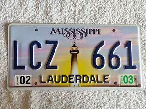 MISSISSIPPI LIGHTHOUSE *MEGA SPECIAL £3.99* Genuine Pre Owned USA License Plate