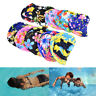 Women Floral Waterproof Spandex Stretch Swimming Cap Bathing Hat Fad HCA