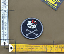 "Ricamata / Embroidered Patch ""Hello Kitty Roger"" Black with VELCRO® brand hook"