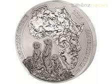 50 Francs African Ounce Erdmännchen Meerkat Ruanda 1 oz Silber Silver PP 2016