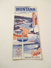 Vintage 1963 Standard Oil Montana Gas Service Station Road Map