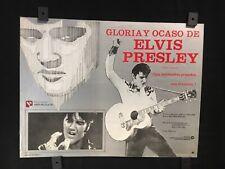 """Elvis Presley 1981 THIS IS ELVIS Original Mexican Lobby Card Art 14""""x11"""""""