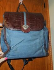 Brighton Backpack Mirabella Diaper Bag Demim Brown Croc Leather Organizer