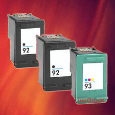 3  HP 92/93 INK FOR HP 92 BLACK HP 93 TRI-COLOR COMBO