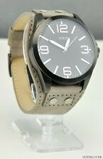 NWT Watch GUESS Taupe Leather SPECIAL New U0181G2