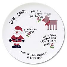 Personalizado Santa y Rudolph carne picada Pastel Y Zanahoria Placa de la Navidad