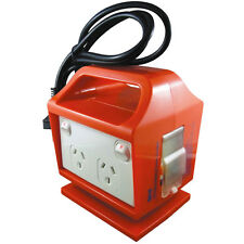 Portable Outlet 4 Power Point Socket Outlet GPO MCB RCD Safety Switch Temporary