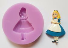 ALICE IN WONDERLAND SILICONE MOULD FOR CAKE TOPPERS, CHOCOLATE, CLAY ETC