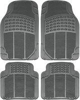Car Floor Mats for Auto All Weather Rubber 4pc Set Semi Custom Heavy Duty Gray