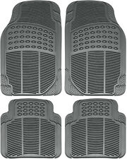 Car Floor Mats for Auto All Weather Rubber 4pc Set Semi Custom Heavy Duty Gray