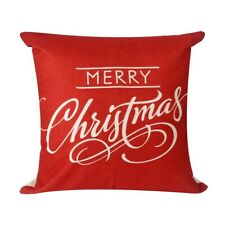Christmas Cotton Pillows Case Throw Cushion Cover Linen Sofa Xmas Home Car Decor
