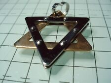 "Men's 2-Tone Stainless Steel ""Star of David"" Pendant (no chain)"