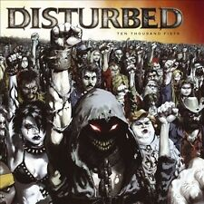 DISTURBED - TEN THOUSAND FISTS-1 POSTER FLAT-2 SIDED-12x12 INCHES-NMINT