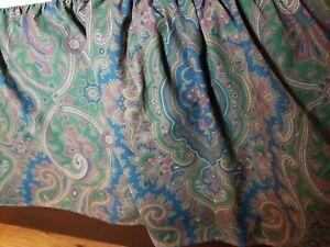Polo RALPH LAUREN Paisley BRIANNA KING Brown Red Blue Bed Skirt Dust Ruffle EUC