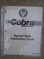 1980s OMC Cobra Stern Drives Special Tools Application Guide Pegboard Diagram R