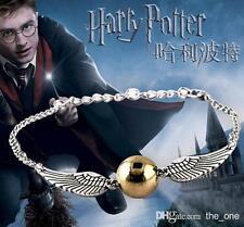 Harry Potter The Golden Snitch Quidditch Wings Bracelet Pendant Gift Unique