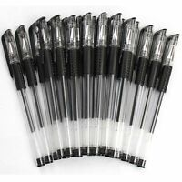 10Pcs  School Good Writing Ball Pen Rollerball Ballpoint Pen 0.5mm Black Ink