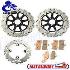 ZX9R Front Rear Brake Disc Rotor + Pads for Kawasaki ZX-9R NINJA 2002 2003