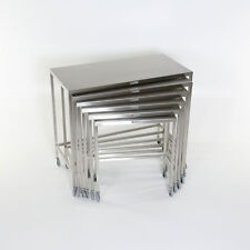 New MCM-560 Set of 6 Stainless Steel Nesting Tables