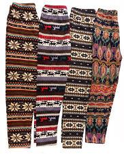 Womens Ladies Fleece Full Length Winter Trousers Pants PJs Nightwear Leggings