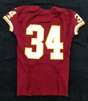 #34 No Name of Washington Redskins NFL Locker Room Game Issued Jersey