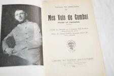 AVIATION MES VOLS DE COMBAT IMMELMANN GUERRE 14 18 ALLEMAGNE 1930