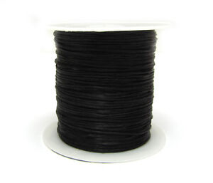 BLACK Color Stretchy Elastic String Beading Cord Line For DIY Jewelry Making