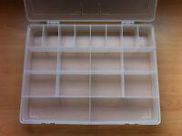 Clear Plastic Organiser Box Hobbies Crafts DIY Stationery Fishing Tackle Storage