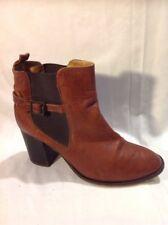Top Shop BROWN cheville bottes en cuir taille 39