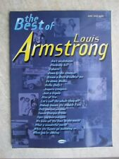 The Best of Louis Armstrong 19 songs with piano and guitar chords *NEW* Carisch