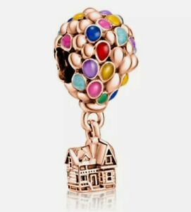 Rose Gold Disney's Up House & Balloons European Dangle Charm Bead!!