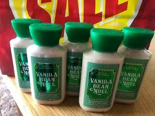 Lot 5 Bath and Body Works VANILLA BEAN NOEL Travel Body Hand Lotion X 5 NEW 3 oz