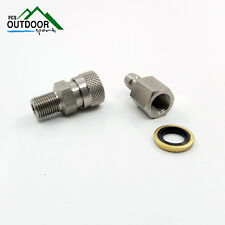 Paintball PCP Rifle Stainless Quick Release Disconnect Coupler Kit 1/8BSP