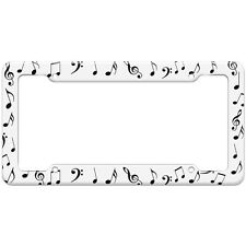 music musical note treble clef pattern license plate frame - Music Note Picture Frame