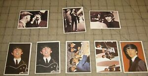 Lot of 8 BEATLES DIARY and A HARD DAYS NIGHT CARDS 1964 Topps