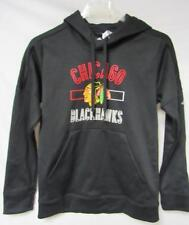 Chicago Blackhawks Womens Size Large Adidas Climawarm Hoodie Black A1 395