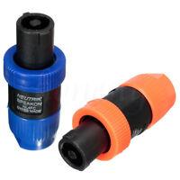 1~10pcs Speakon NL4FC 4 Pole Speakon Plug Male Speaker Audio Cable Connector