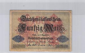 Allemagne 50 Mark 5.8.1914 n° 4466322 Pick 49b