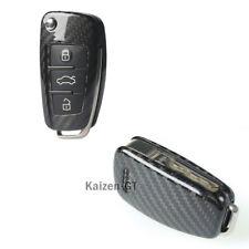100% Carbon Fiber Remote Smart Key Fob Cover For Audi A1 A4 A3 A6 A7 A8 Q3 Q5 TT