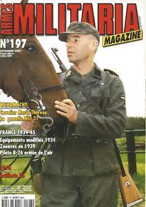 MILITARIA N°197 ARTILLERIE US/ ZOUAVES 1939/ CAVALIER MARIA THERESA / PILOTE B26