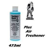 Leather Cleaner Conditioner Poorboys World Leather Stuff 473ml + Air Freshener