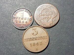 Altdeutschland 3 Münzen s - vzgl