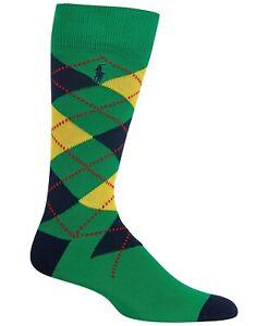 POLO RALPH LAUREN Men's Lightweight Cotton Blend Argyle Trouser Socks NWT